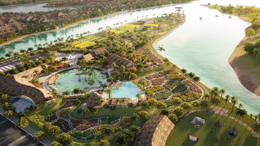 """Với cấu trúc """"đảo trong lòng đảo"""", không gian sinh thái và nông nghiệp của Hoian d'Or mang đến những trải nghiệm hoàn toàn mới về du lịch sinh thái, nghỉ dưỡng và chăm sóc sức khỏe."""